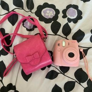 Polaroid pink camera case